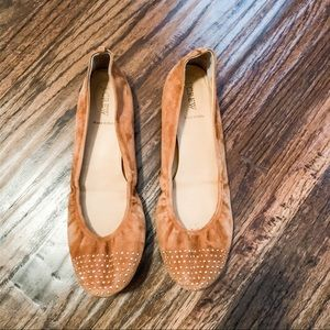 J. Crew flats w/cute stud detail on the toe